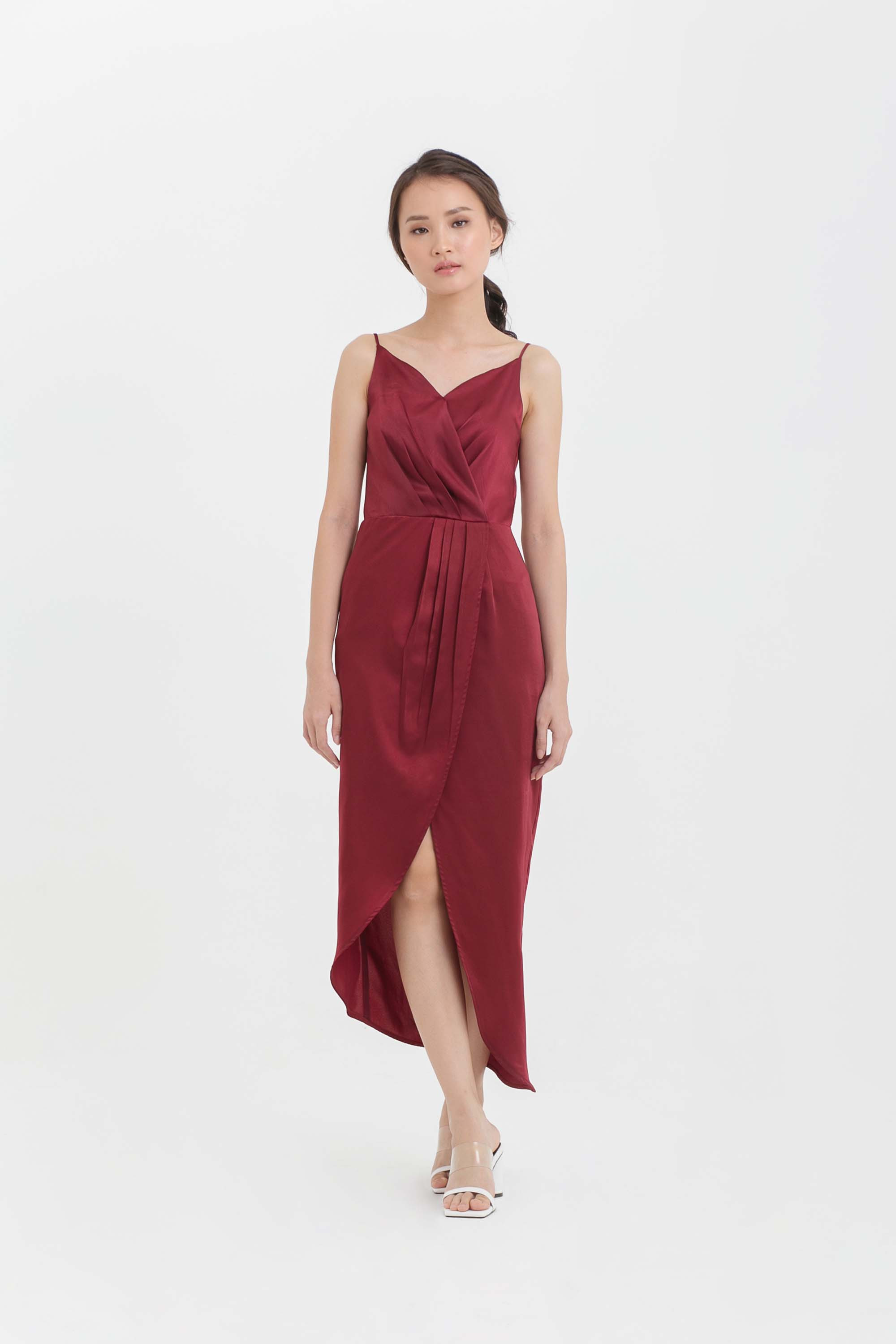 Asymmetric Tulip Midi Dress