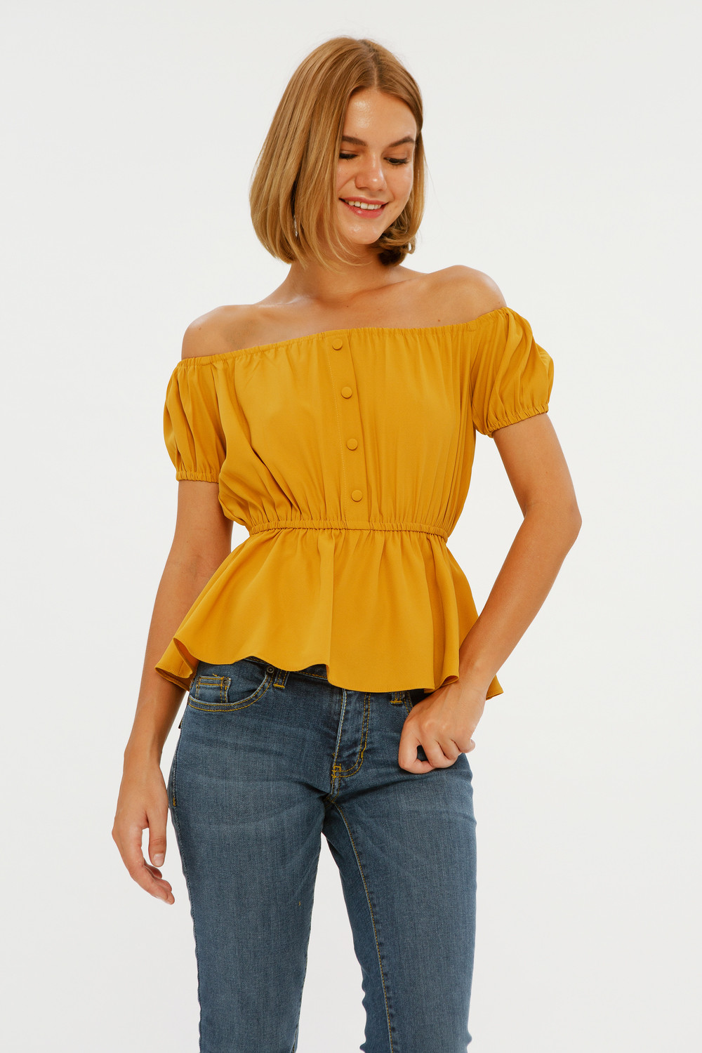 Peplum Off Shoulder Top