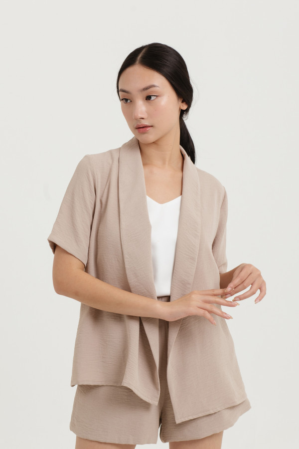 Belted Short Sleeve Outer