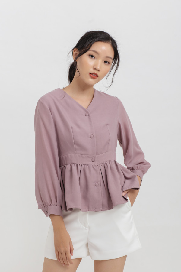 Carol Button Top