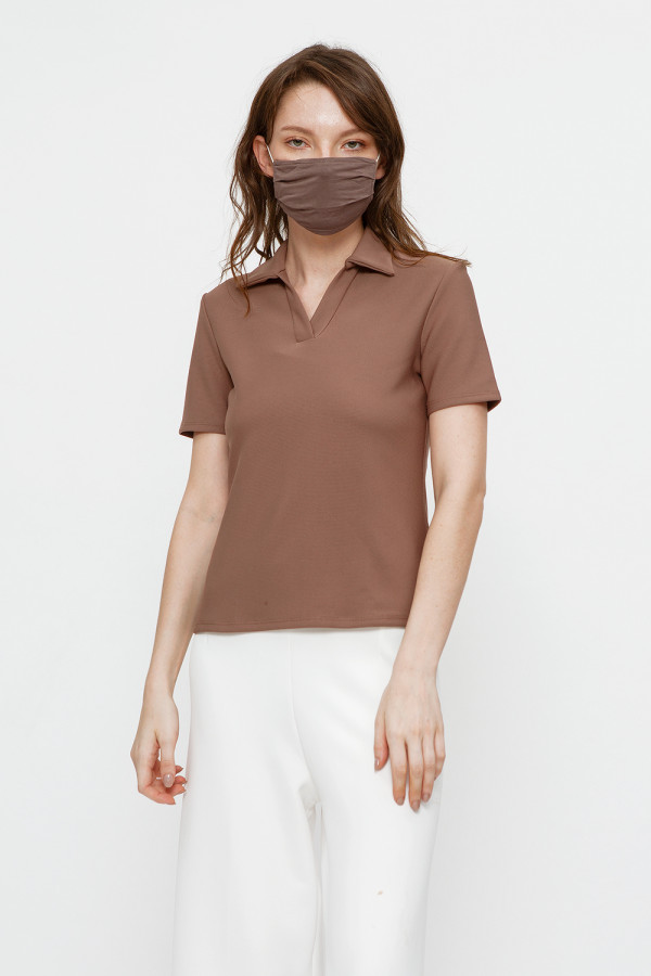 Reusable Face Mask in Dark Brown (Small)