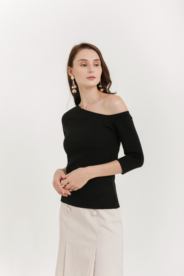 Flynn Asymmetric Knit Top