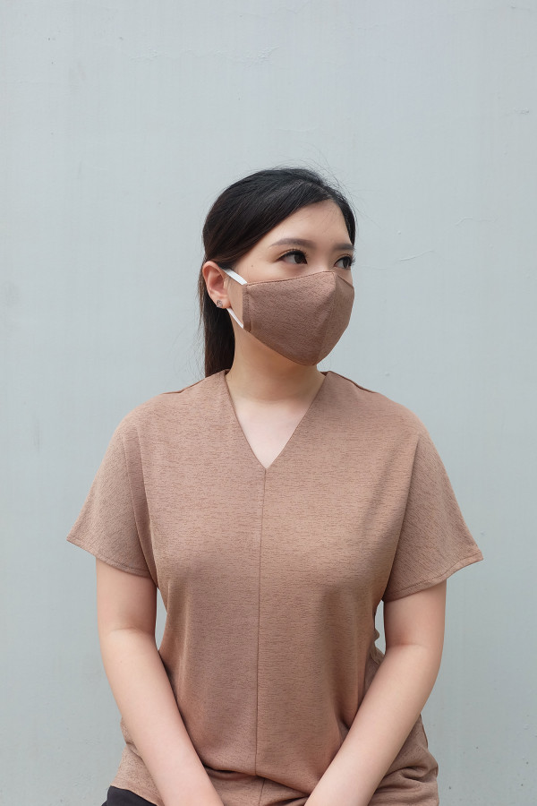 Reusable Earloop Cloth Mask in Brown