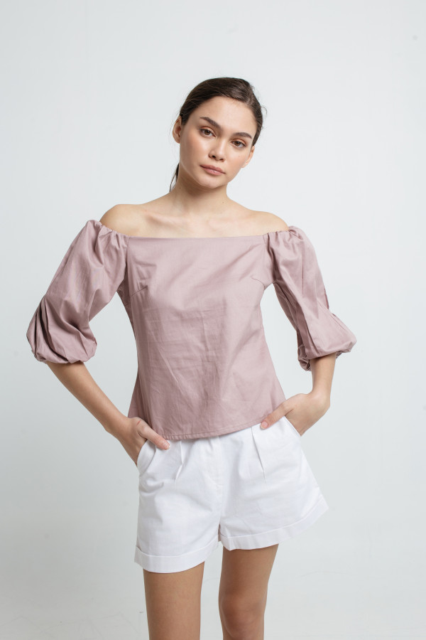 Off Shoulder Puff Sleeve Top
