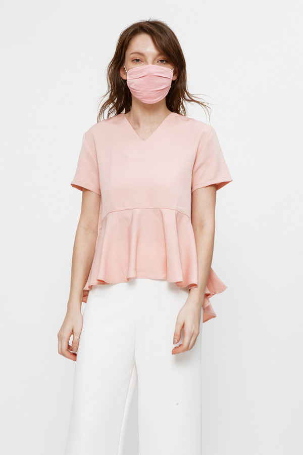 Reusable Face Mask in Rose (Small)